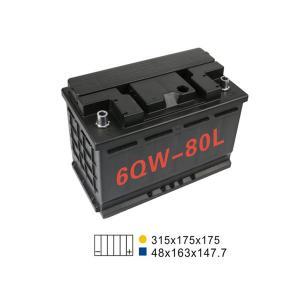Best 20HR 75AH 660A 6 Qw 80L Car Battery For Start Stop 311*175*175mm wholesale