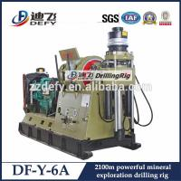 Best PQ Wireline DF-Y-6A Hydraulic exploration drilling rig 1000-2100m Depth Core sampling rig wholesale