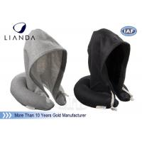 Best Hoodie Travel Neck Pillow U Shape Cervical Rest Soft Fabric With Hood For Sleeping wholesale
