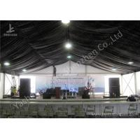 Best Luxury Linings Decorated Fabric 20x20 party tent With Sidewalls , Aluminum Frame Marquee wholesale