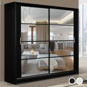 Best Stylish Bedroom Furniture Sliding Doors glass Wardrobe wholesale