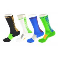 Best Spandex / Elastane Green Athletic Basketball Socks With Anti - Bacterial / Anti - Slip Materials wholesale