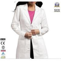 China Ladies Lab Coat Custom Workwear Two front patch pockets 100% cotton on sale