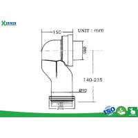 """Cheap 4"""" 110Mm WC Toilet Pan Connector 90 Degree Space Saving Set Back Design for sale"""