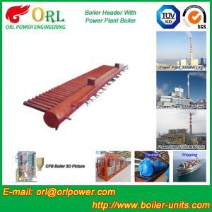 Best Condensing Gas Boiler Low Loss Headers , Power Station Heating Header Tank wholesale