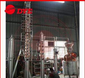 Best Semi-Automatic Commercial Distilling Equipment , Copper Pot Still Column wholesale