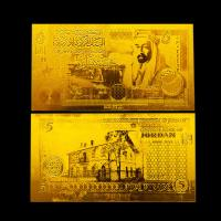 Best JORDAN 5 Dinars 24k Gold Plated Banknotes With Pure 99.9% Find Gold wholesale