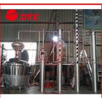 Best 200L - 5000L Red Copper Alcohol Distiller , Whiskey Distilling Equipment wholesale