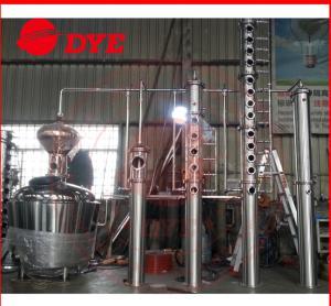 Best 10BBL Miniature Red Copper Still Pot Distillation Industrial 3MM Thickness wholesale