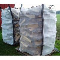 Best Ventilated Firewood Mesh PP Bulk Bag Two Side Stripe Fabric 100% Virgin Polypropylene wholesale