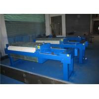 Cast Iron Chamber Automatic Filter Press Machine / Plate And Frame Type Filter Press