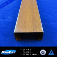 Best High Quality Aluminum Wooden Grain Baffle Ceiling/Wooden Metal Ceiling Decoration/Wooded B wholesale