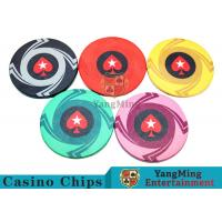 Best Ceramic Casino Poker Chips , Poker Chips And Cards With Dynamic Textures Design wholesale
