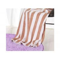 Best Hotel 100% Cotton Beach Towels , Rectangle Cotton Terry Towel Water Soluble wholesale
