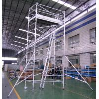 China Painting Plastering Safety Adjustble Aluminium Mobile Scaffold / Mobile Scaffolding Tower on sale