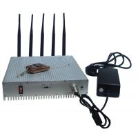 Best Remote Control Cell Phone Signal Jammer / Power Adjustable Cell Signal Blocker Metal Shell wholesale