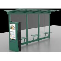 Best Auto LCD Outdoor Digital Signage , Digital Bus Stop Shelter Advertising System wholesale