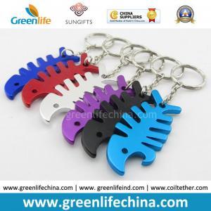 Best Colorful Custom Cheap Bulk Blank Aluminum Metal Beer Keychain Bottle Opener w/Key Ring wholesale