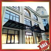 China excellent waterproofing rain sun hotel patio gazebo balcony corridor porch aluminium polycarbonate awning canopy shelter on sale