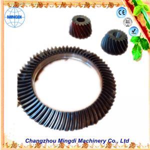 Best Changzhou Mingdi Customized OD 1.5m Hopoid Spiral Bevel Gear / Helical Bevel Gear Set wholesale