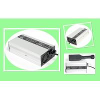 Black Silver 24V 5A Li Battery Charger For LiFePO4 Li - Ion Batteries With Aluminium Case