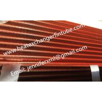 Best Tension Wound Single Row Flat Fin Tube For Air Cooled Condenser wholesale