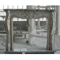 Best Traditional Natural Stone Fireplaces China Juparana Granite Granite Fire Surround wholesale