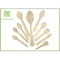 Best Healthy Disposable Wooden Cutlery Dinner Ice Cream Spoons In Different Shapes wholesale