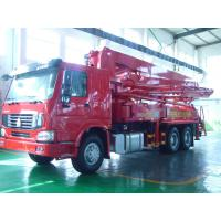 Best 125M3 / H 21m Concrete Pump Truck With With Big Bearing Capacity And Small Swing wholesale