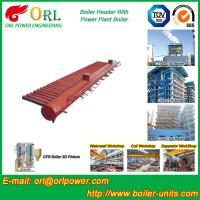 Best Low Pressure Steel Electric CFB Boiler Header Boiler Steam Header Water Tube Structure wholesale