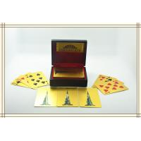 Best Customize 24K Karat Gold Plated Playing Cards with Wood Gift Box and Certificate wholesale