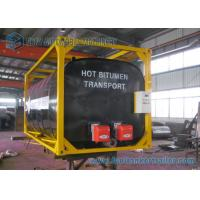 Best ISO Frame Liquid Bitumen Storage Tanks 20 Foot Shipping Container wholesale