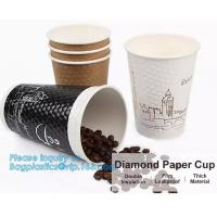 China Diamon paper cup, double insulation, film leakproof, thick material,Thick hot drink paper cup 12oz with handle and Doubl on sale
