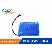 Cheap 7.4V 850mAh lithium polymer battery 803040 pl803040 li po battery for led light for sale