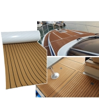 Buy cheap 98in X 47in Eva Faux Synthetic Teak Deck  L240cm Laminated Flooring from wholesalers