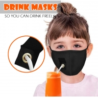 Best ready to ship new drink face mask with drink hole and opening for drinking wholesale