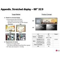 Best Bar Stretched LCD Display Digital Signage LG 88'' LD880DEN-UKA2 3840*1080 Pixels 56 Pin 1.07B Colors 700CD/M2 wholesale