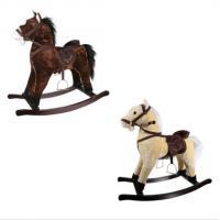 Children'S Xmas Gift Plush Rocking Toy , Plush Rocking Horse With Sound And Movement