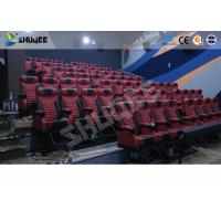Cheap Large Mobile 4D Movie Theater Equipment  , Motion Chairs With Comfortable Headrest And Cup Saucer for sale