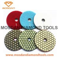 Best 4'' Granite Limestone Marble Terrazzo 3 Steps Dry Polishing Pads wholesale