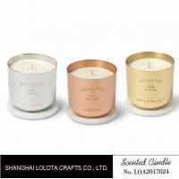 Best Colorful scented metal jar candle with one cotton wick printing logo wholesale