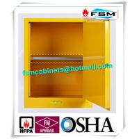 Yellow Industrial Safety Cabinets , Flame Proof Storage Cabinets With Double Lock