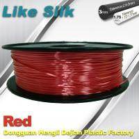 Best Imitation Silk Filament Polymer Composites 3d Printer Abs Filament Red Color wholesale