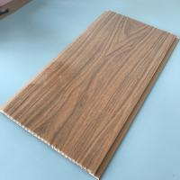 Cheap 25cm Decorative Plastic Wall Panels , Wood Interior Wall Paneling Excellent Insulation for sale