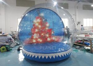 Best 0.65mm PVC  Inflatable Santa Snow Globe Ball Quadruple Stitching wholesale