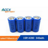 Best high quality icr14280 LED Lighting lithium battery 3.7V 340mAh 14280 rechargeable li-ion battery wholesale