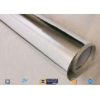 Best 0.45mm Thick 13oz Silver Coated Fabric With Aluminium Foil For Facing wholesale