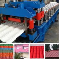 Best Hydraulic Pressing Roof Color Steel Tile Roll Forming Machine in Blue wholesale
