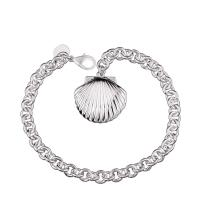 Best Exquisite Stylish Seashell Charms Silver Plated Metal Clasps For Bracelets wholesale