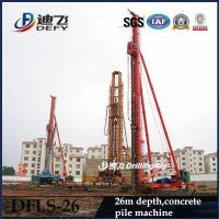 Best 26m Depth Foundation construction machinery, Hydraulic pile driver DFLS-26 on Crawler wholesale